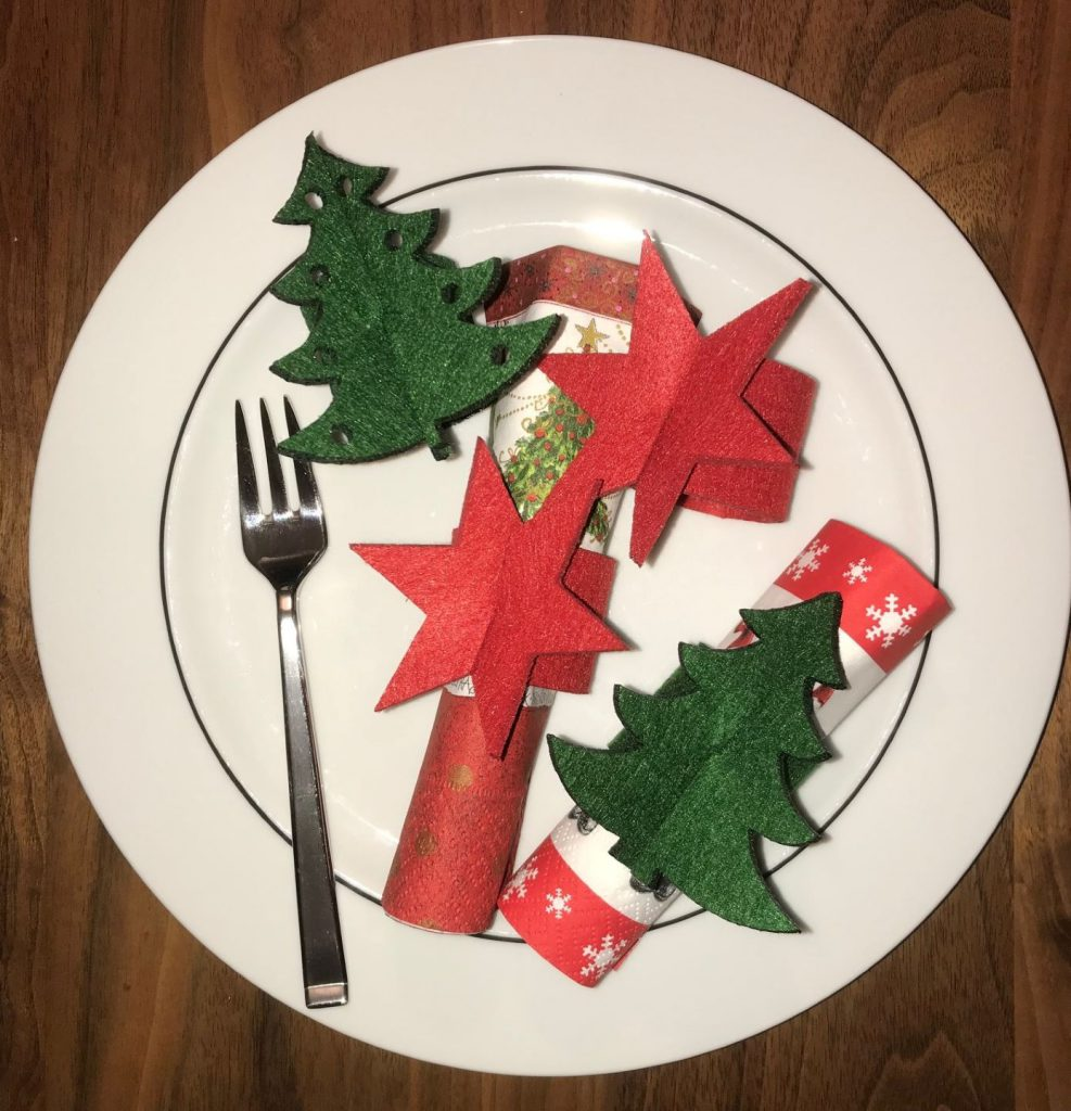 Serviettenringe für die Weihnachtszeit